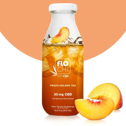 FloChi CBD Iced Tea Peach Oolong Tea Flavor