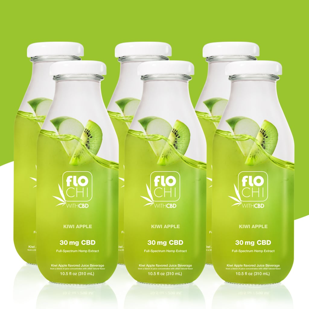 FloChi CBD Juice CBD Apple Kiwi Flavored Juice 6-Pack