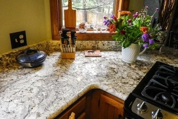 Blue Dunes Kitchen Countertop L Shaped