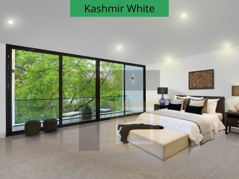 Kashmir White Granite Flooring
