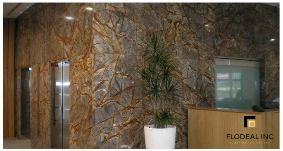 Rainforest Brown Marble Cladding