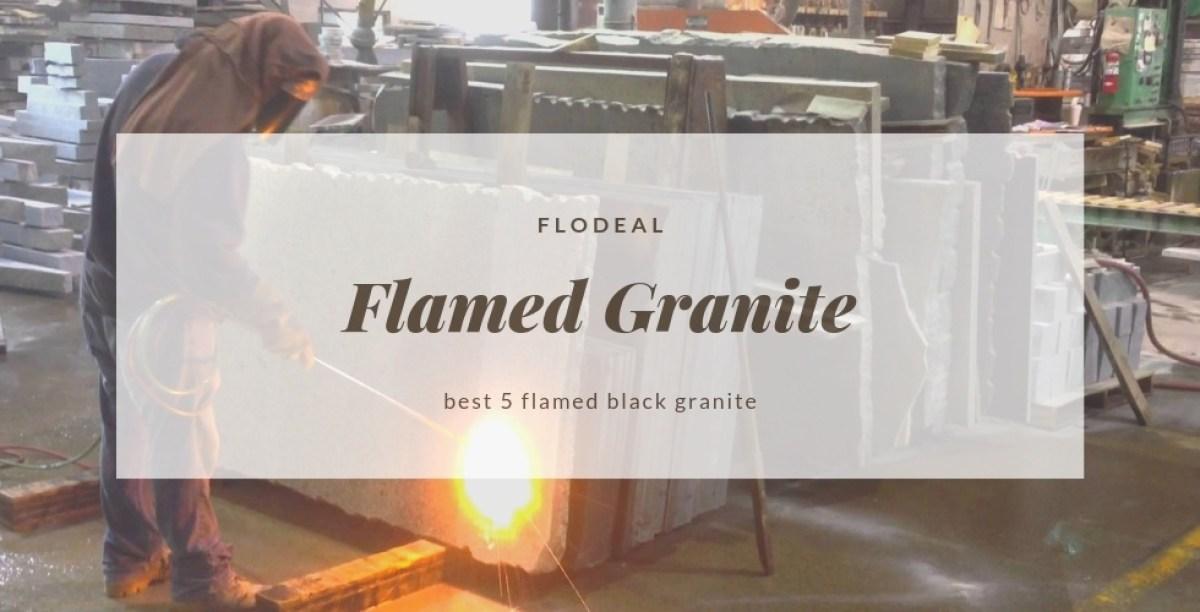 flamed black granite