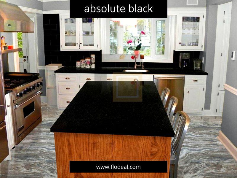 Absolute Black Granite Kitchen Countertop