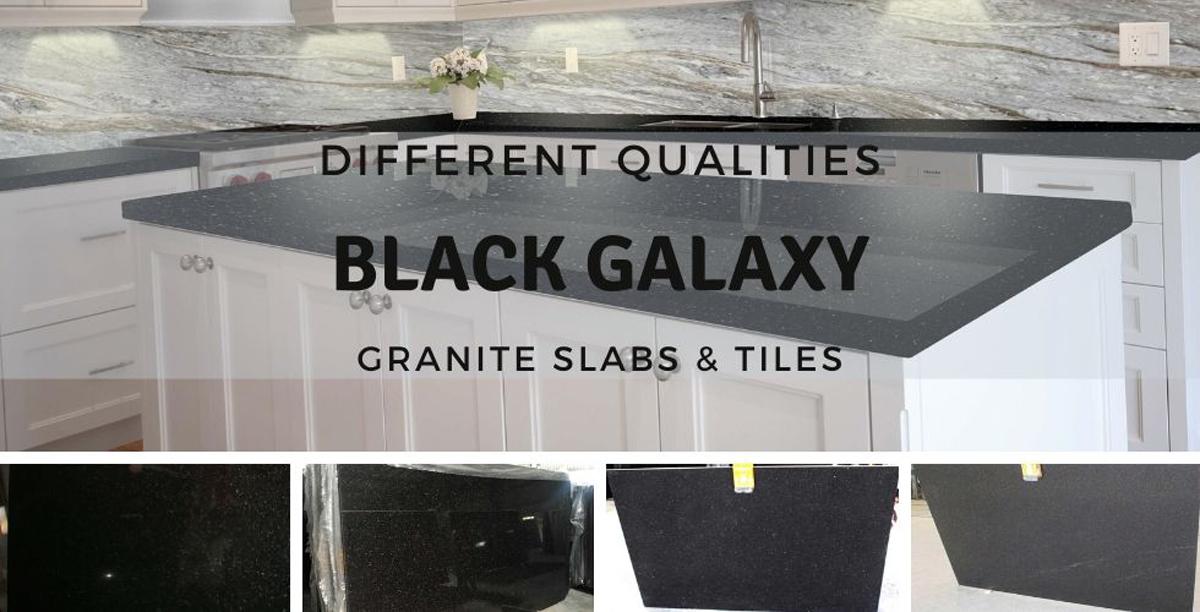 Different Qualities Black Galaxy Granite