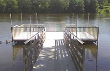 Floating Docks example of a section with railings.