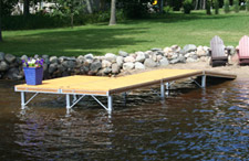 Shore end ramp component for Sectional docks.