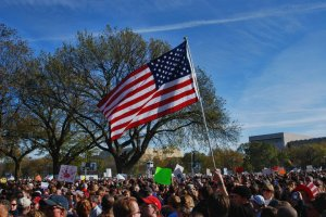 Old Glory at the Rally