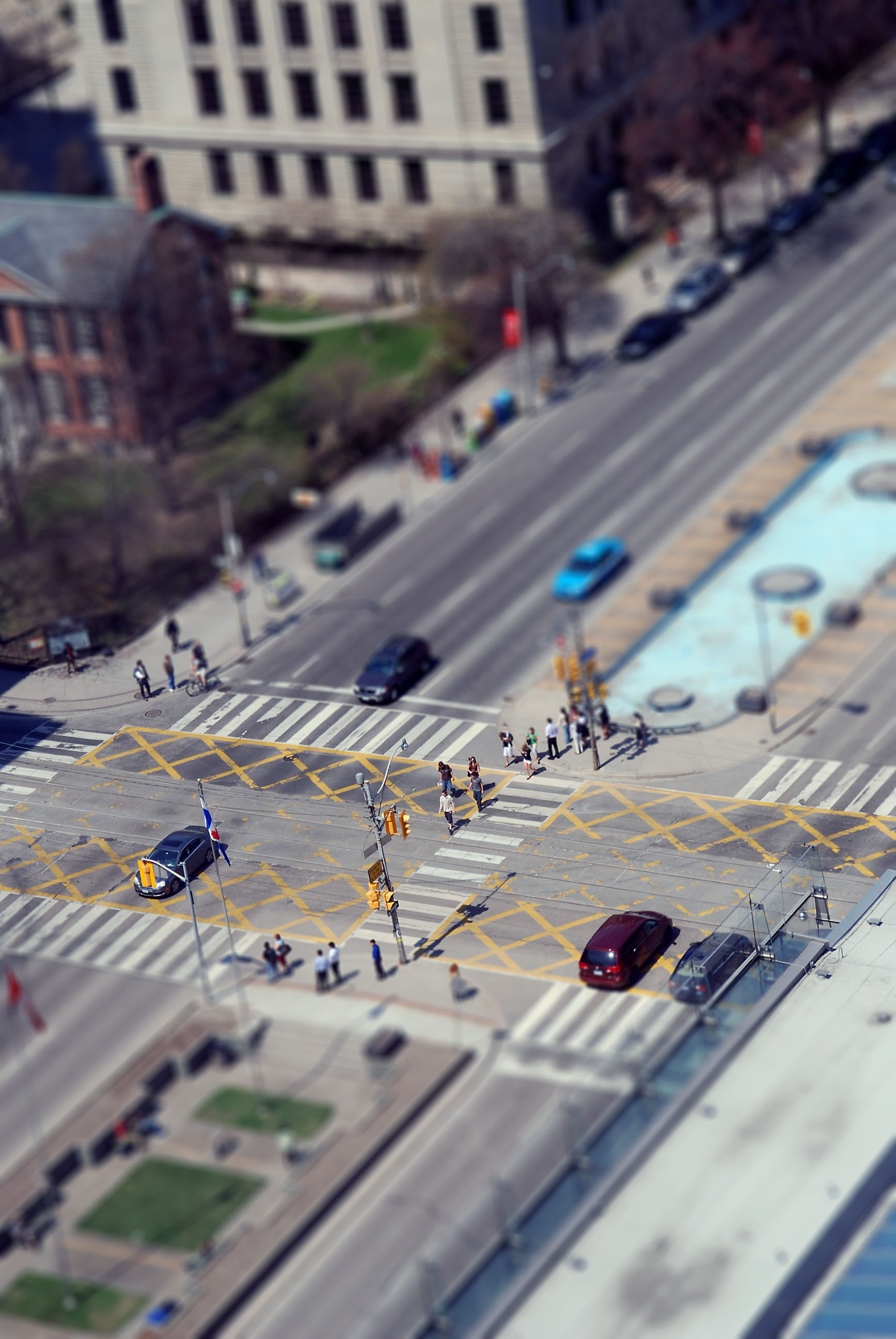 tilt-shift photo from Toronto Canada