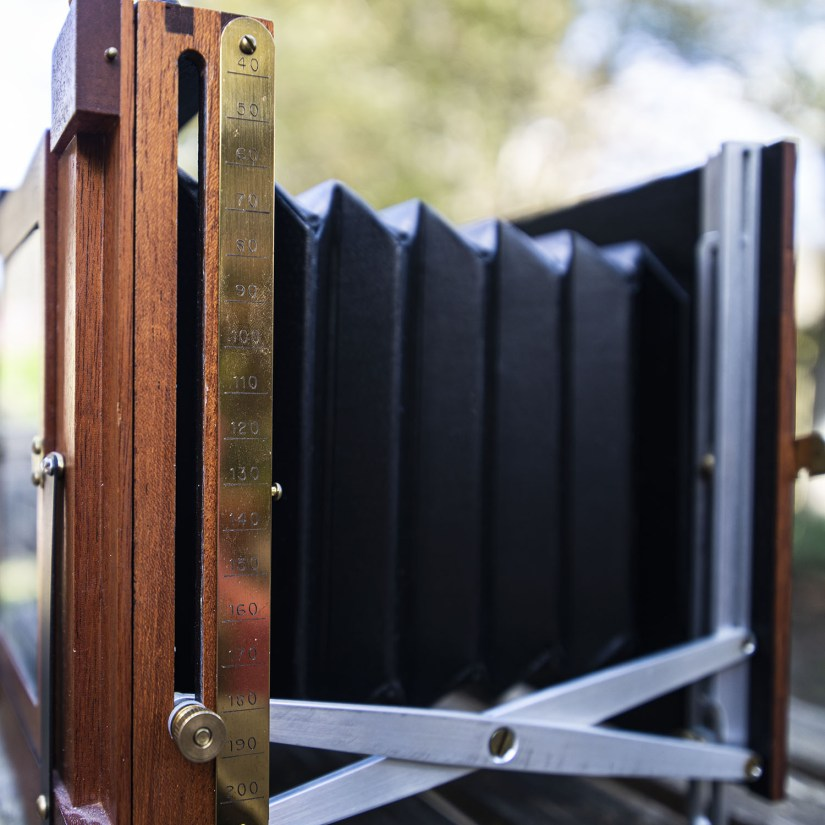Finney Field Camera bellows and focal scale