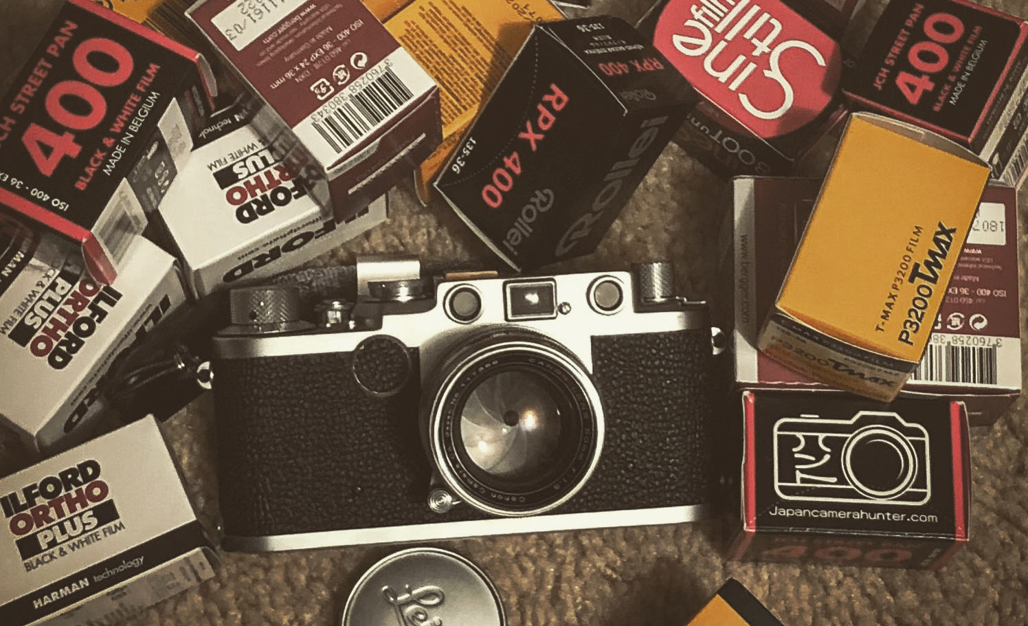 camera and assorted film