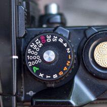 Nikon F3 shutter speed dial and shutter button