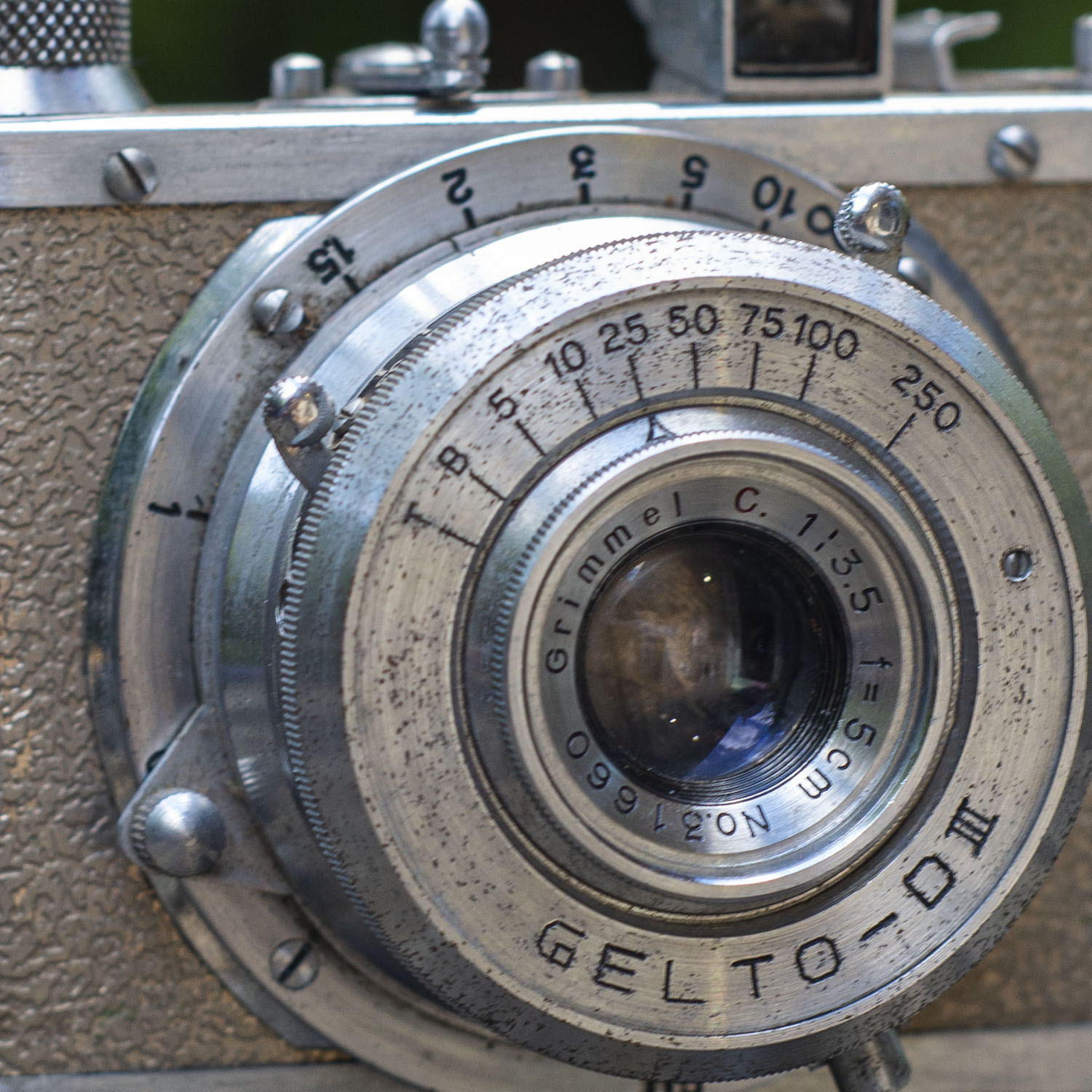 Gelto DIII camera lens detail
