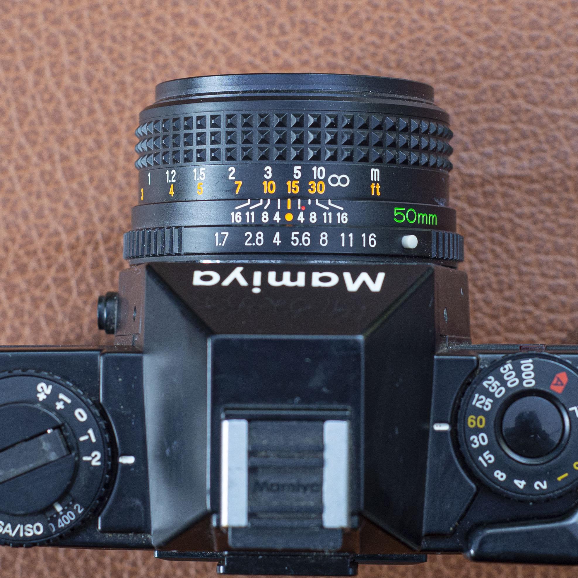 Mamiya ZM lens scale detail