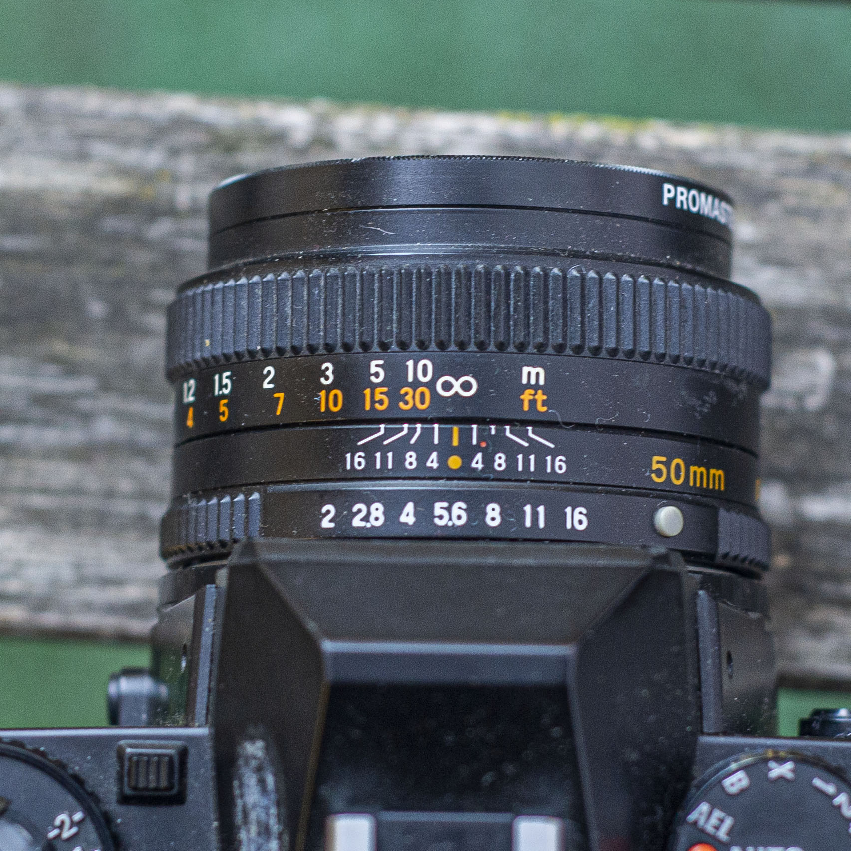 Mamiya ZE-2 lens detail