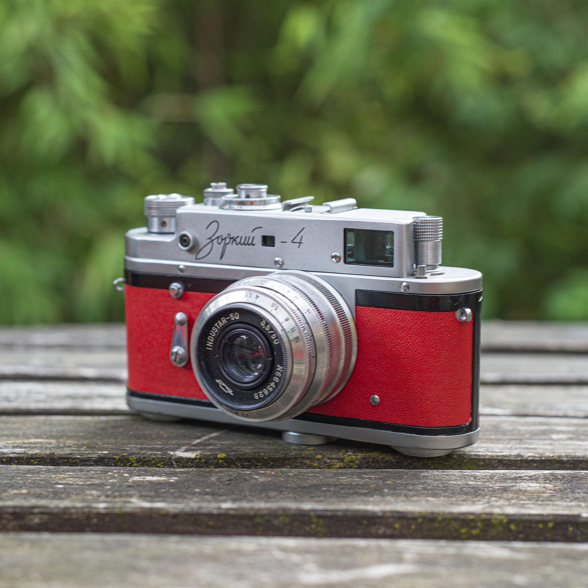 Zorki 4 camera - left side