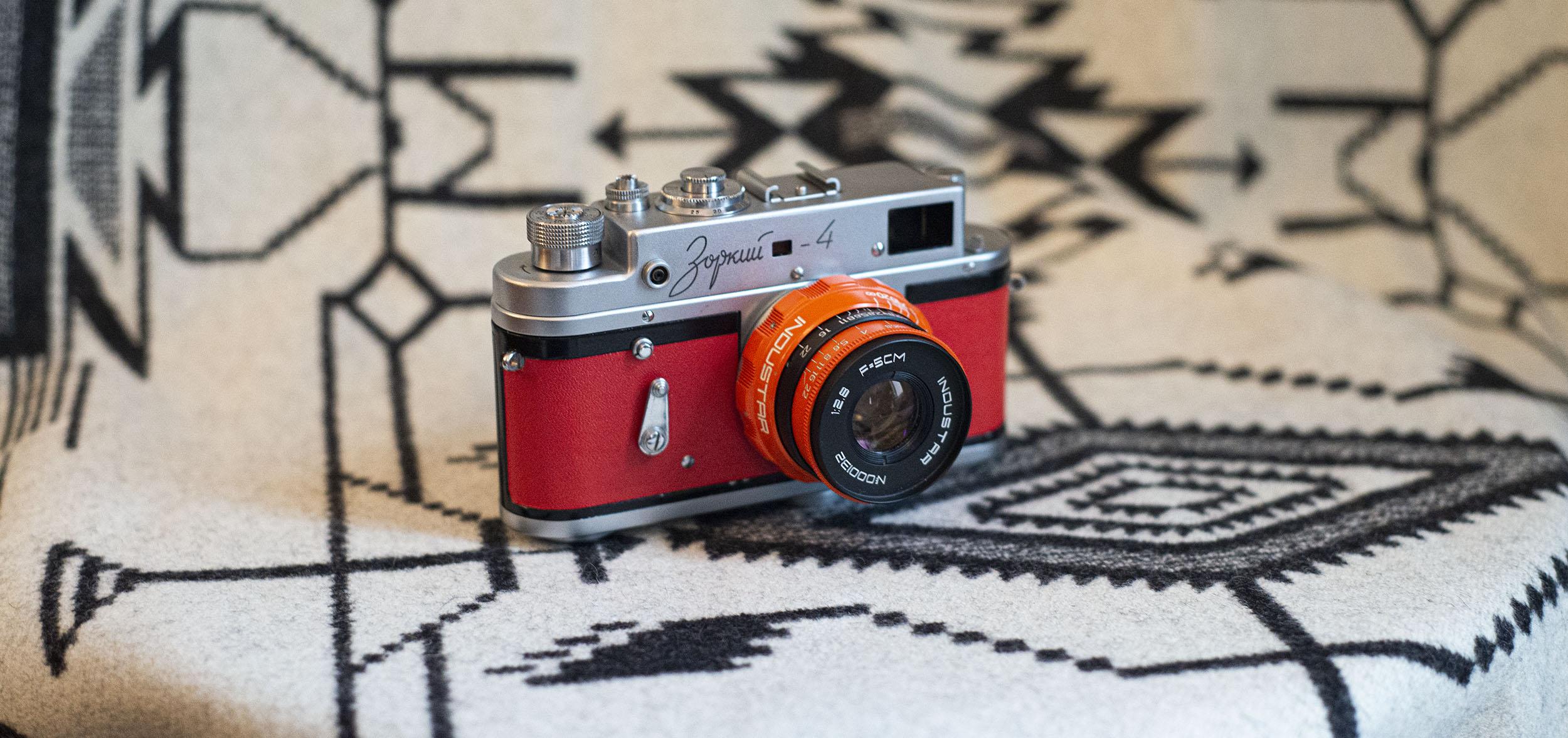 Zorki 4 Rangefinder with Orange Industar lens