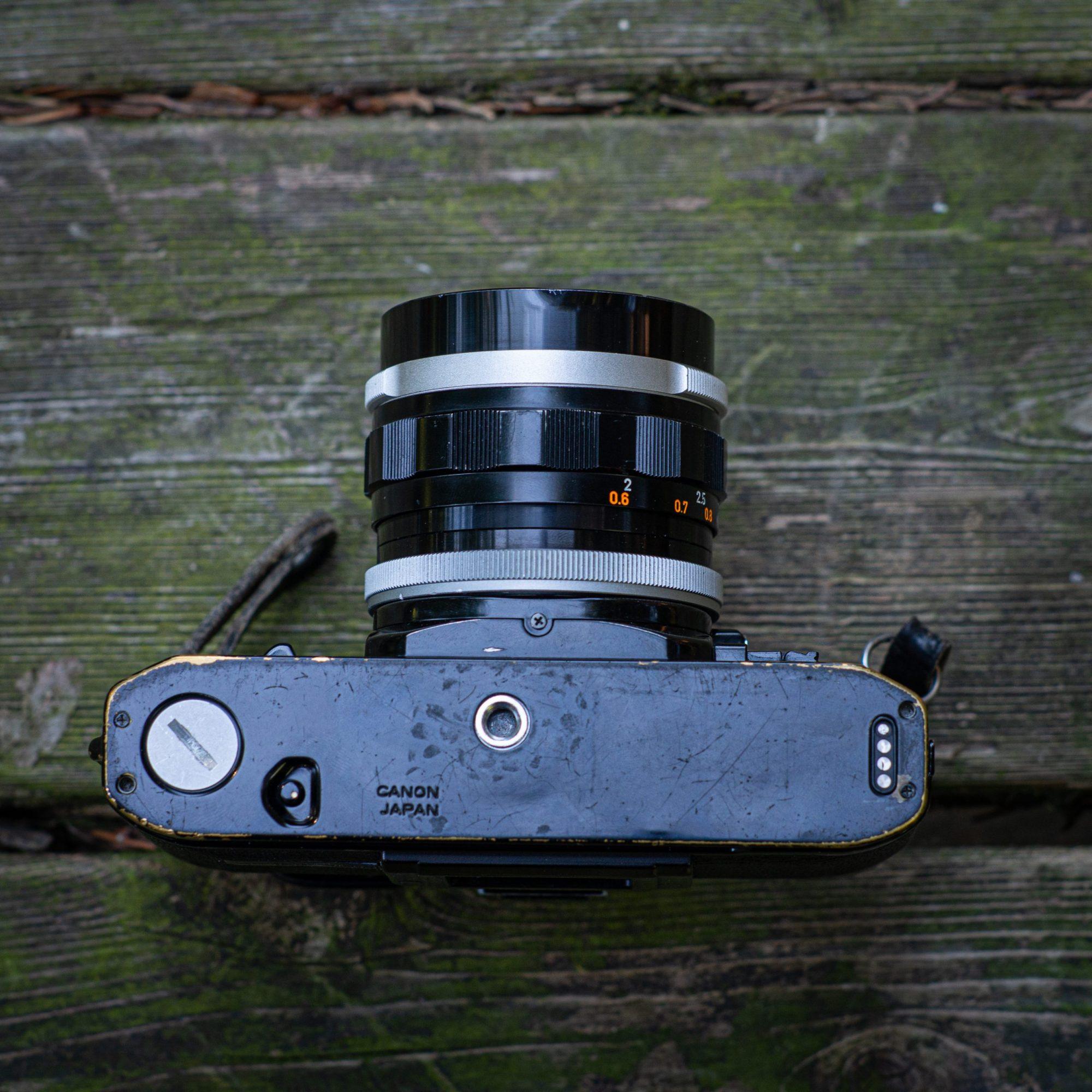 Bottom of Canon camera