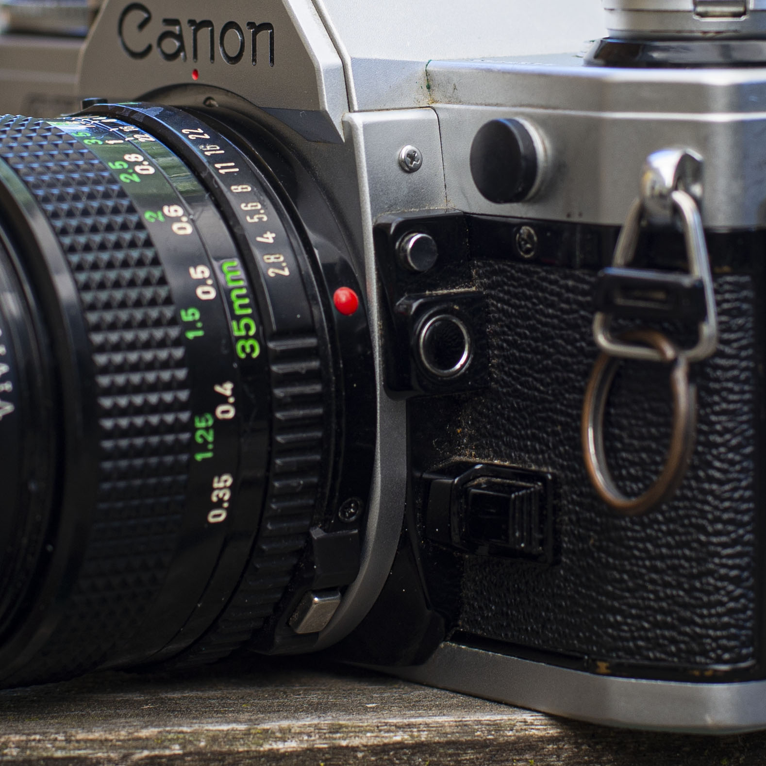 lens and metering controls