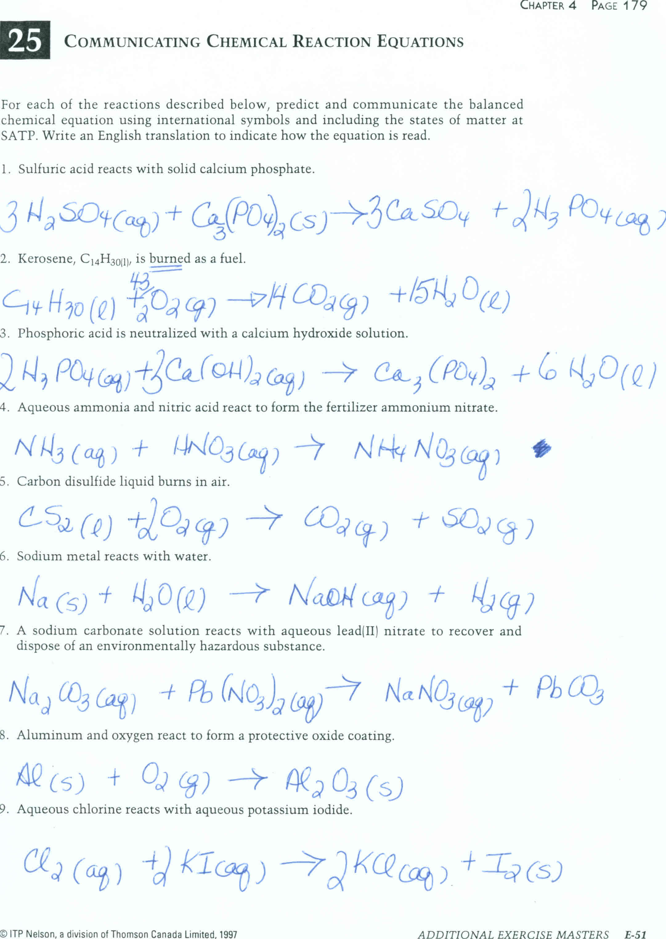 Balancing Chemical Equations Worksheet Class 8