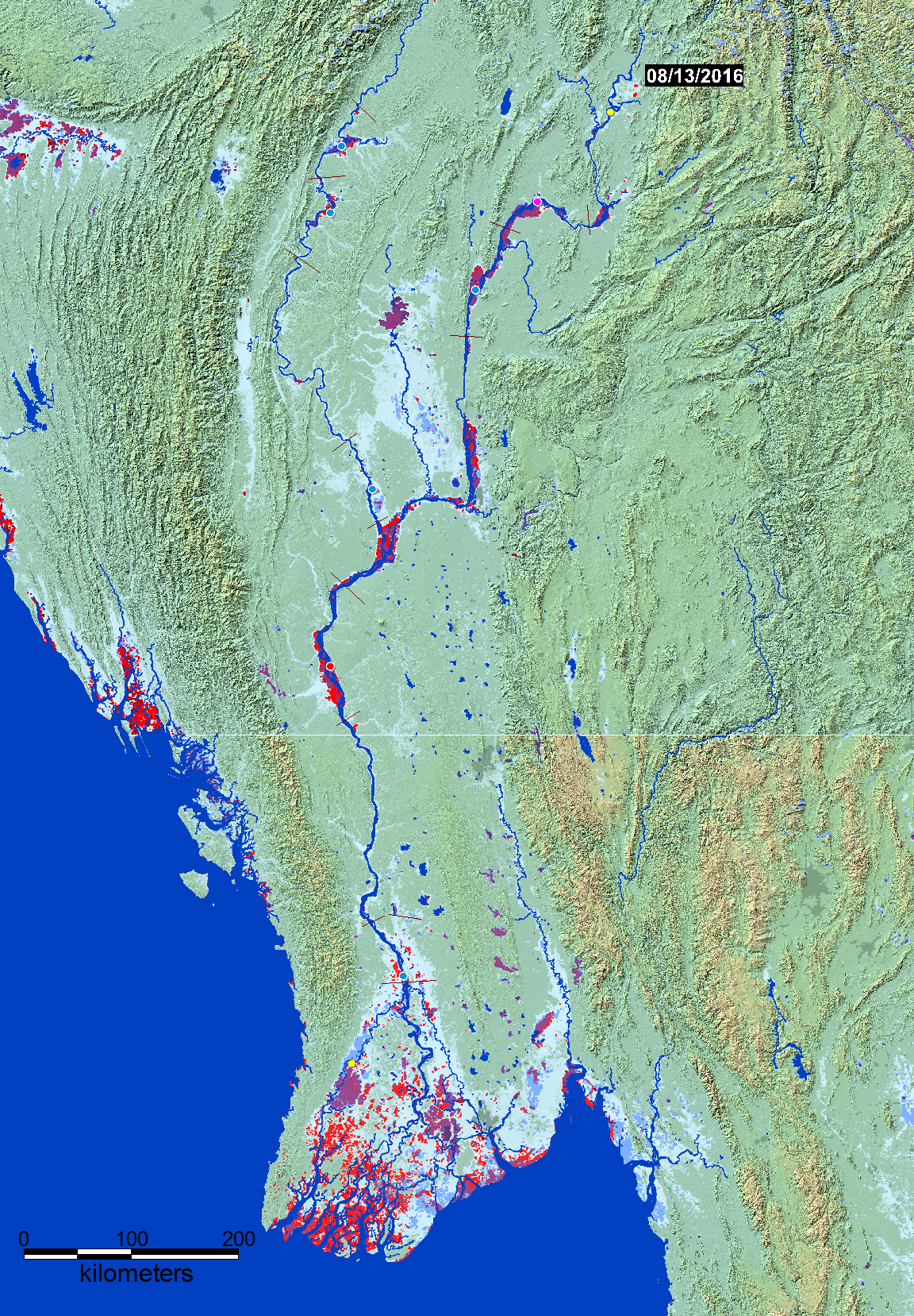 Current Flood Conditions, Myanmar