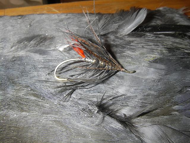 I wrapped the hackle three times over the alpaca wool body to help it stand up.