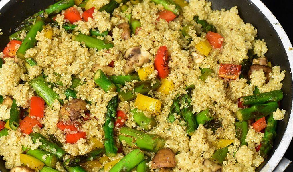 Rezept: Quinoa mit Spargel