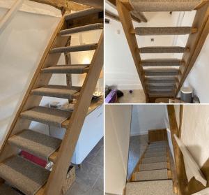 Wraparound open stair carpet