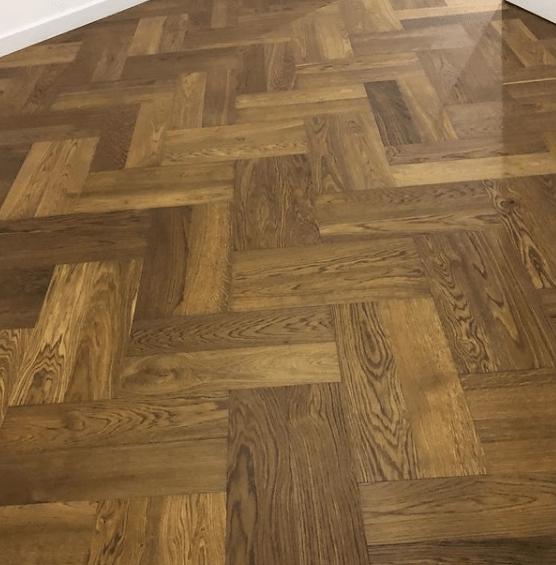 Quickstep parquet herringbone flooring