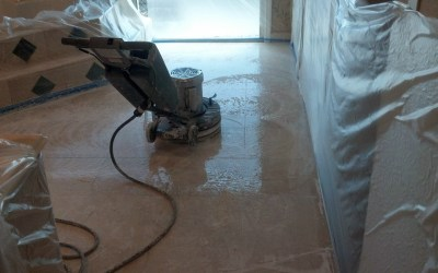 Professional Marble Polishing Starts with Proper Protection.