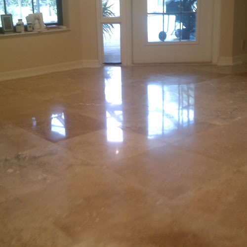 Travertine Floor Cleaning Refinishing