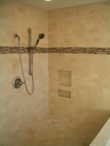 Incorrectly installed shower niche