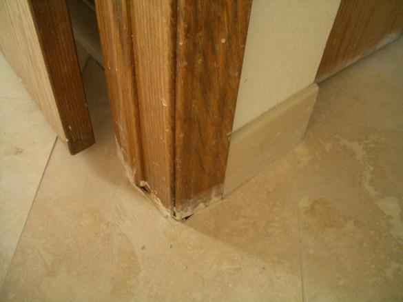 Crap cuts around door jamb - not undercut