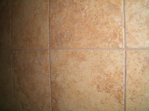 Completed control joint in tile installation