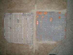 Improper coverage on tile / Ditra not filled correctly