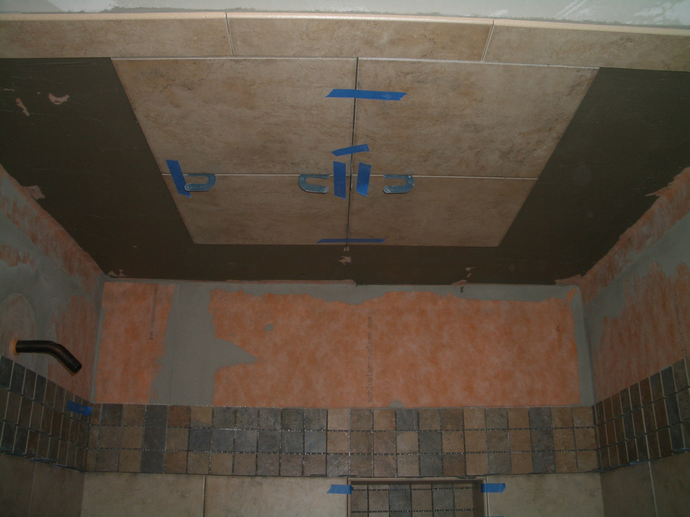 How To Install Tile On A Shower Ceiling The Floor Elf