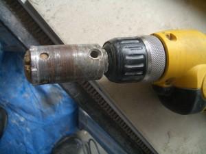 Bit with sponge plug inserted