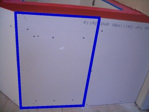 Taping off panel perimeter