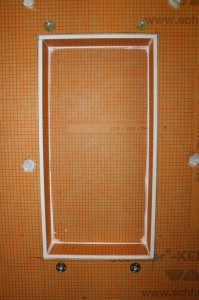 Kerdi-board niche installed
