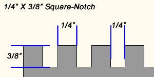 "1/4"" X 3/8"" square notch trowel"