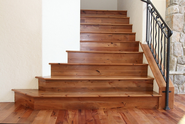 Madrone Stair Treads And Risers ‹ Esl Hardwood Floors   Wood Stair Treads And Risers