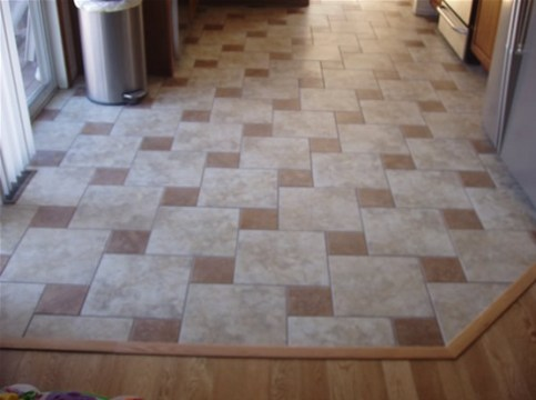 Combined pattern for kitchen flooring   Flooring Ideas   Floor     Kitchen Floor Tile Pattern for Better Room Decoration      Combined pattern  for kitchen flooring