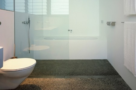 Polished concrete bathroom floor design   Flooring Ideas   Floor     These images posted under  Using Concrete Bathroom Floor and Change the  Look of