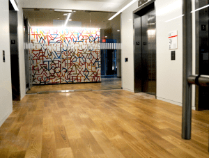 FSI commercial flooring for Corporate Sales Office, entryway, & Hallway
