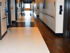 FSI commercial flooring for Forest Park Medical Center hallways