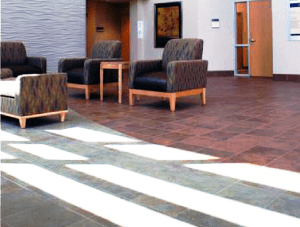 FSI commercial flooring for Seating area waiting room-Hillcrest Baptist Medical Center BSW Healthcare