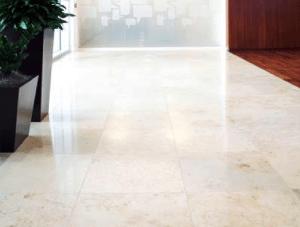 FSI commercial Stone Floor reception Charles Schwab project