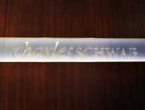 FSI commercial flooring for Wall Sign Charles Schwab project