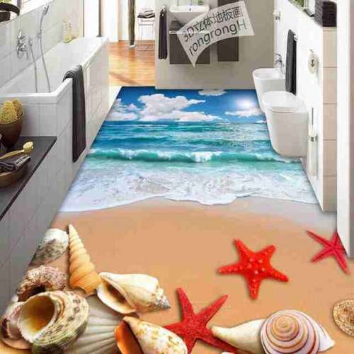 3D Bathroom Seaworld Picture Porcelain Wall and Floor Tile - 3D Bathroom Seaworld Picture Porcelain Wall and Floor Tile