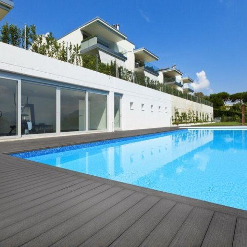 Ground Floor WPC Decking, For Swimming Pool Side Deck