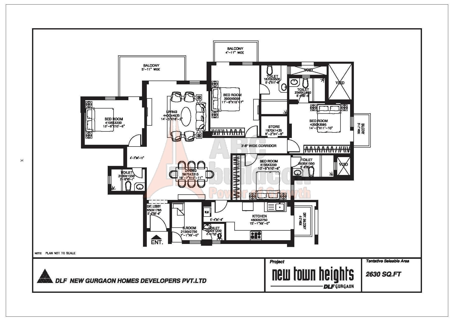 DLF New Town Heights Floor Plan